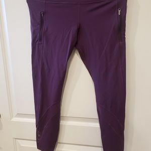 Lululemon Cropped leggings with mesh and pockets